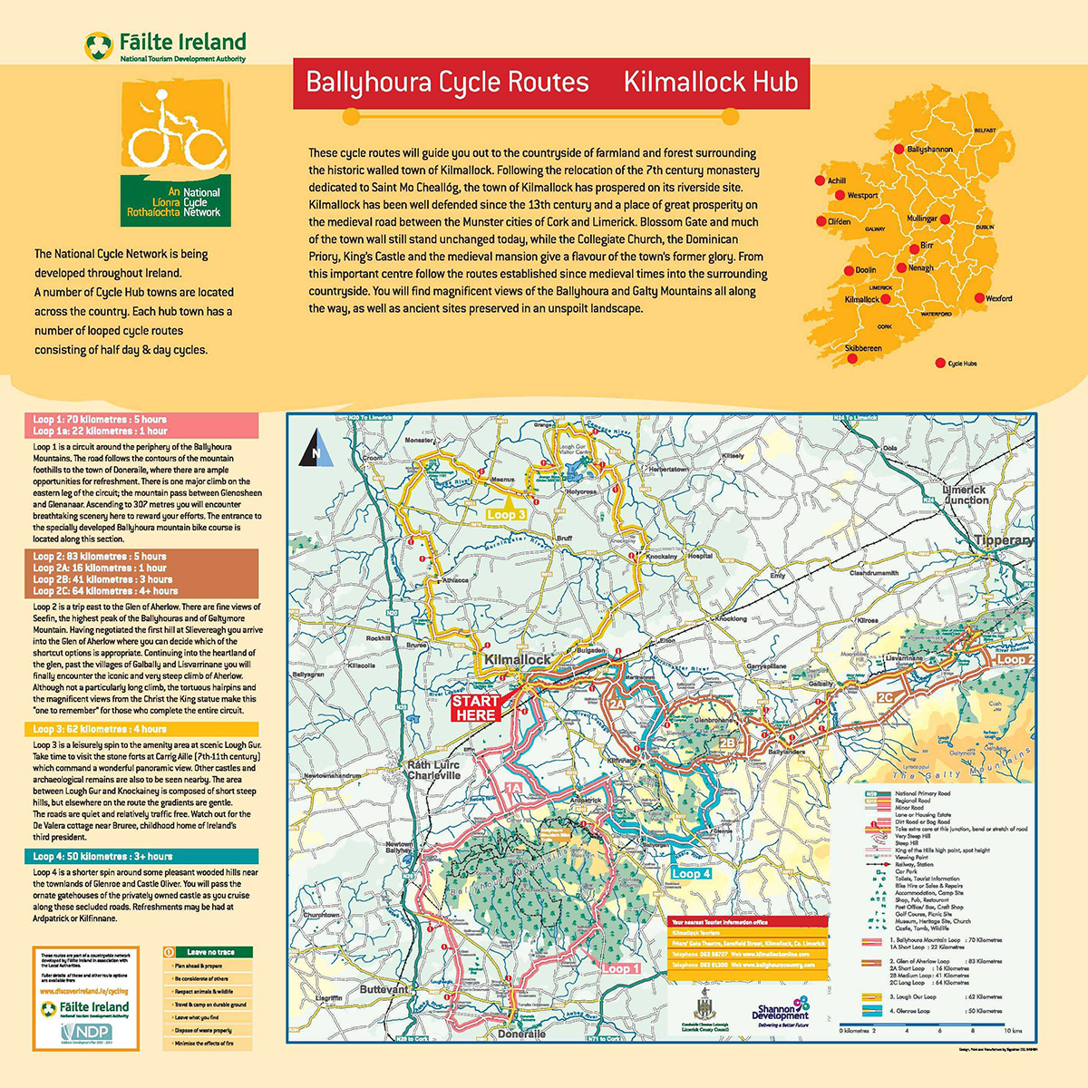 BALLYHOURA CYCLE HUB MAP