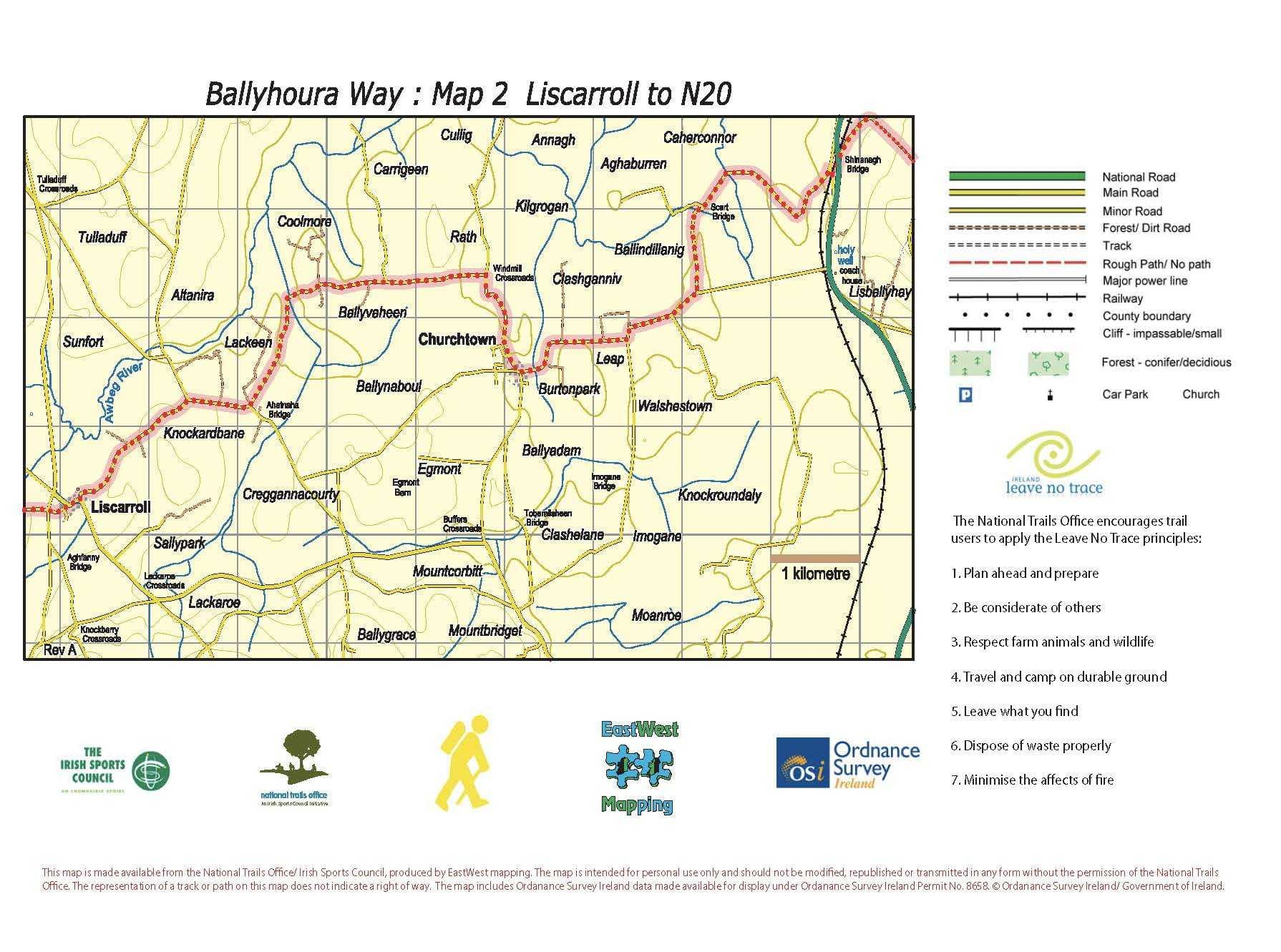 BHW Map 2 Liscarroll to N20