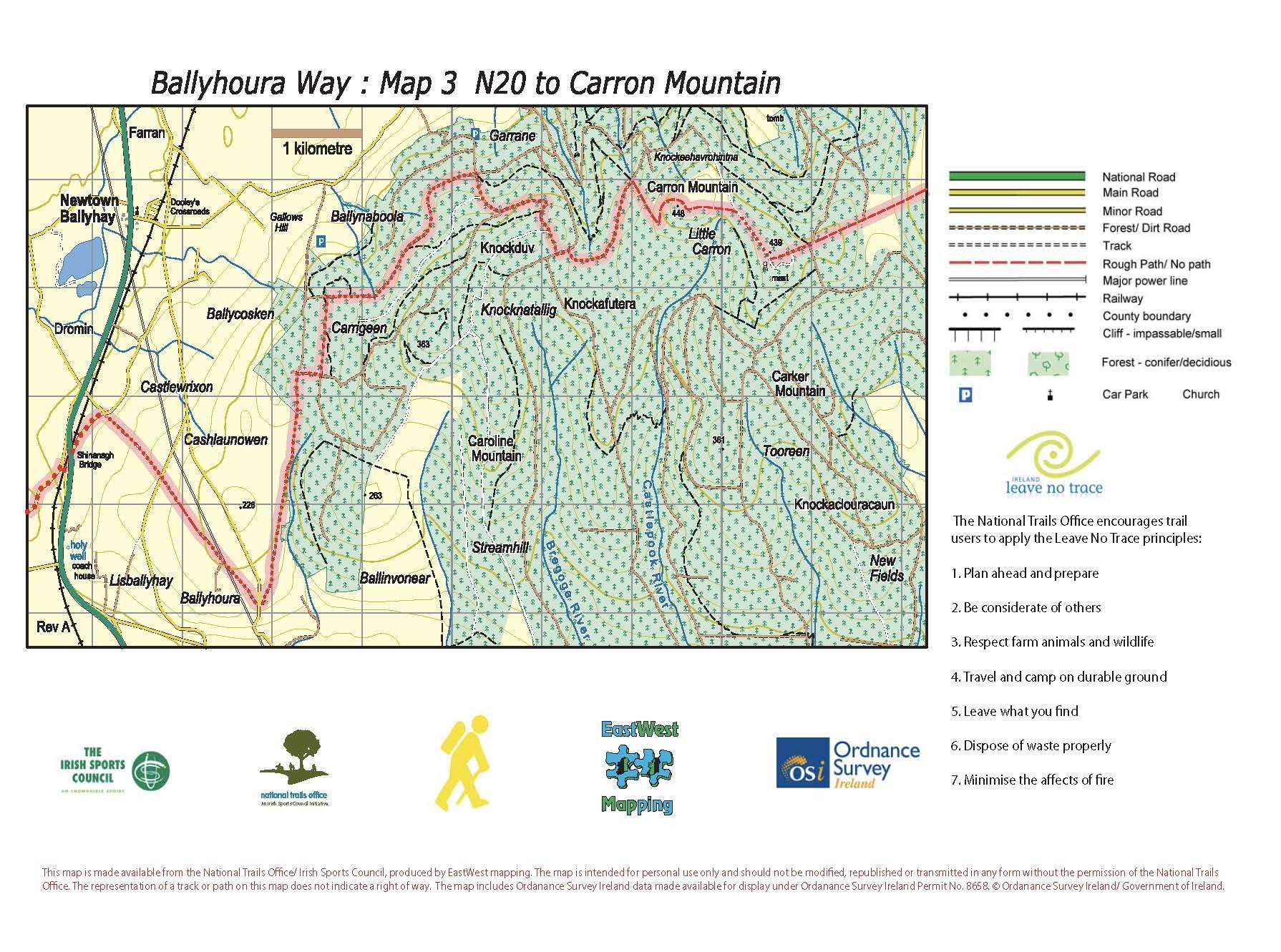 BHW Map 3 N20 to Carron Mountain