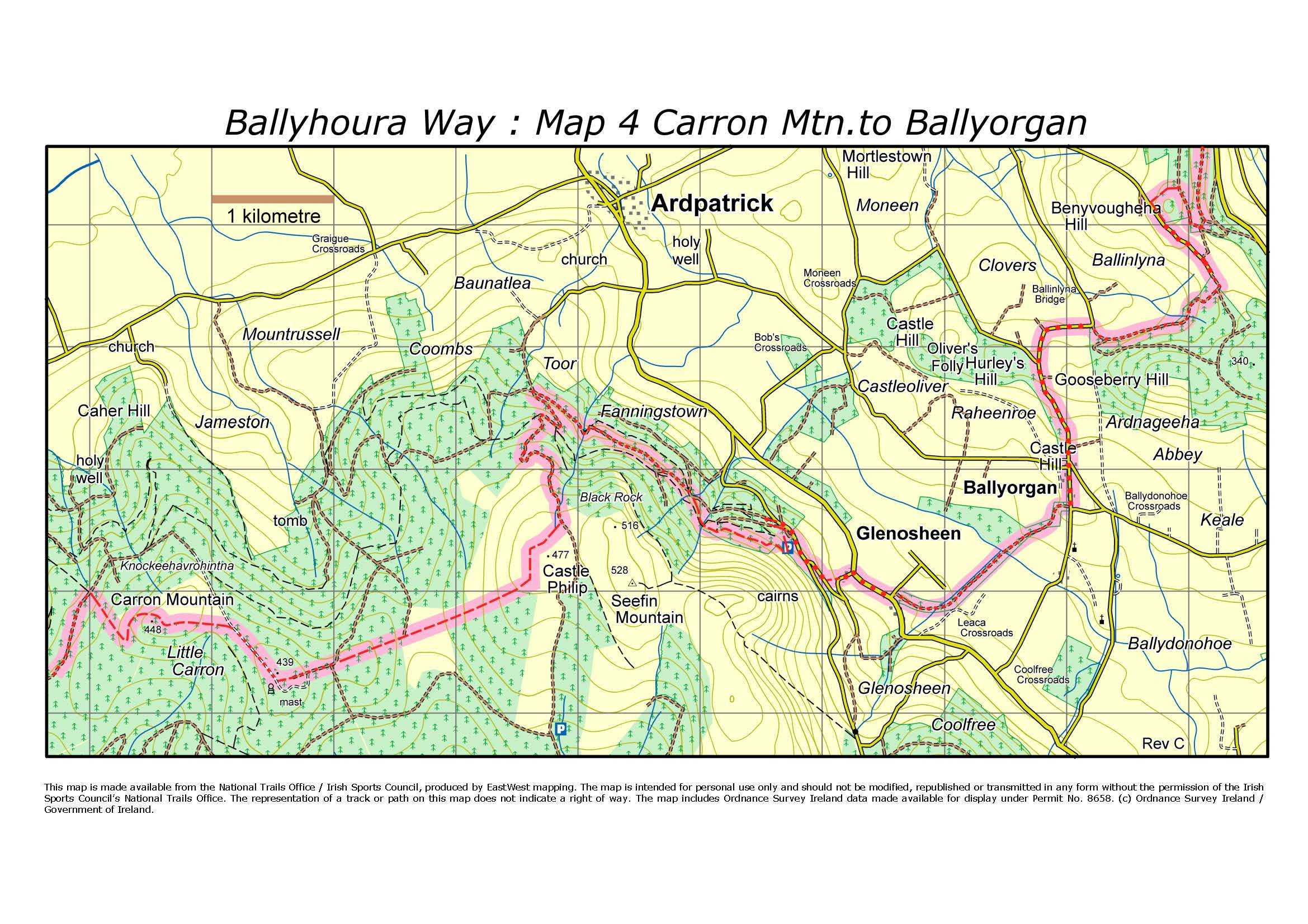 BHW Map 4 Carron Mountain to Ballyorgan