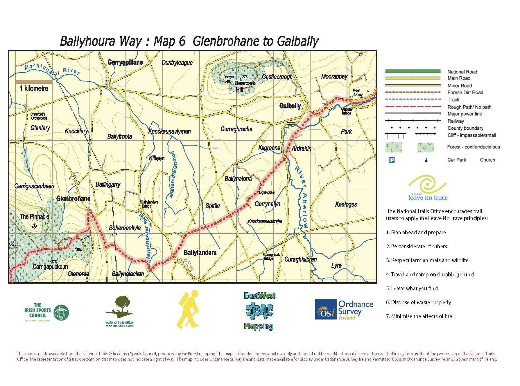 BHW Map 6 Glenbrohane to Galbally