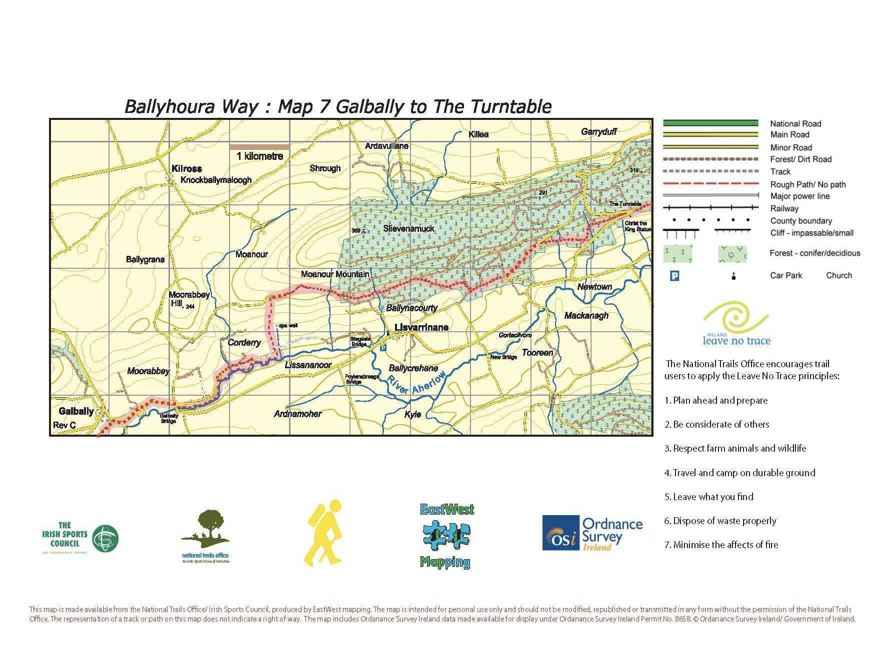BHW Map 7 Galbally to Turntable