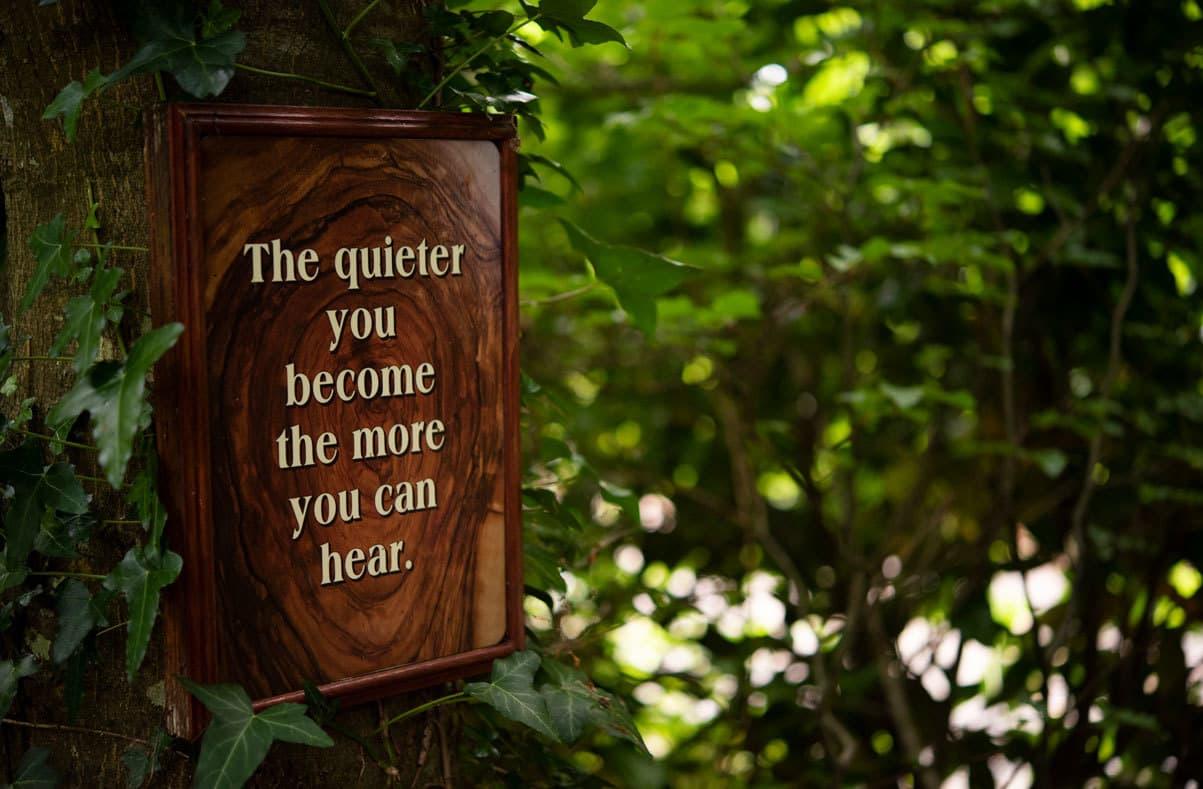 Ballinwillin House Mindfull Garden Sign