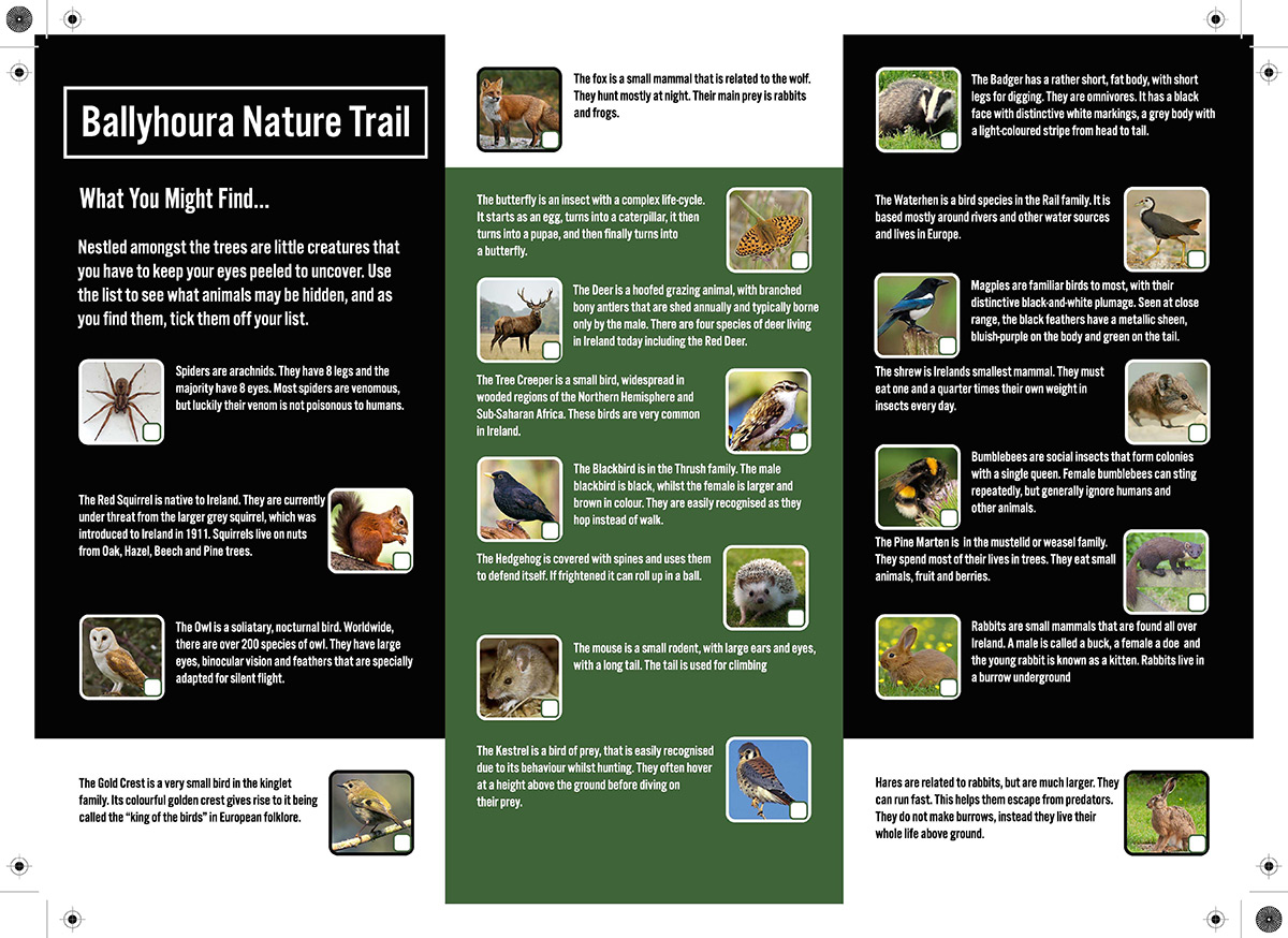 Ballyhoura Nature trail flyer Page 2