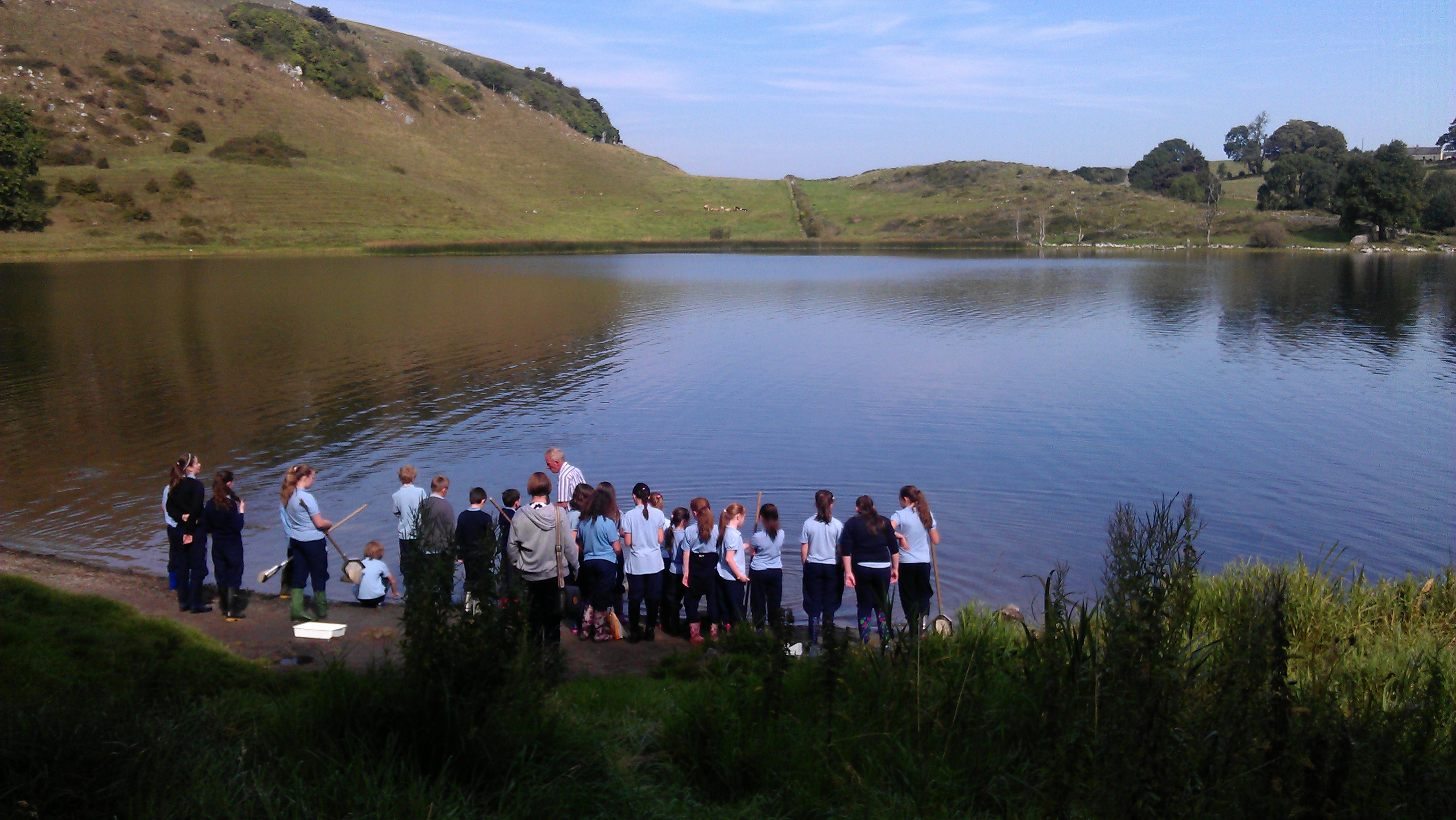 Children Pond dipping at Lough Gur