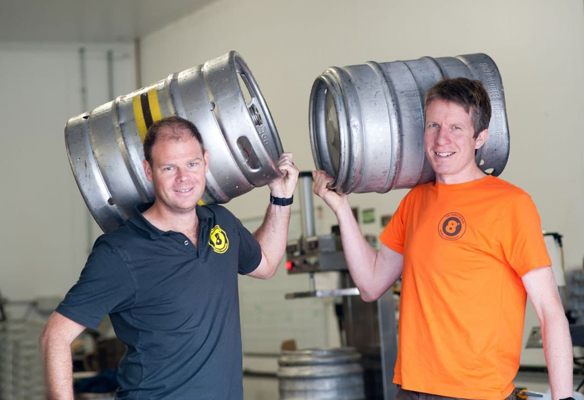 Eight Degrees Brewing Founder Brewers Cam Wallace and Scott Baigent 1