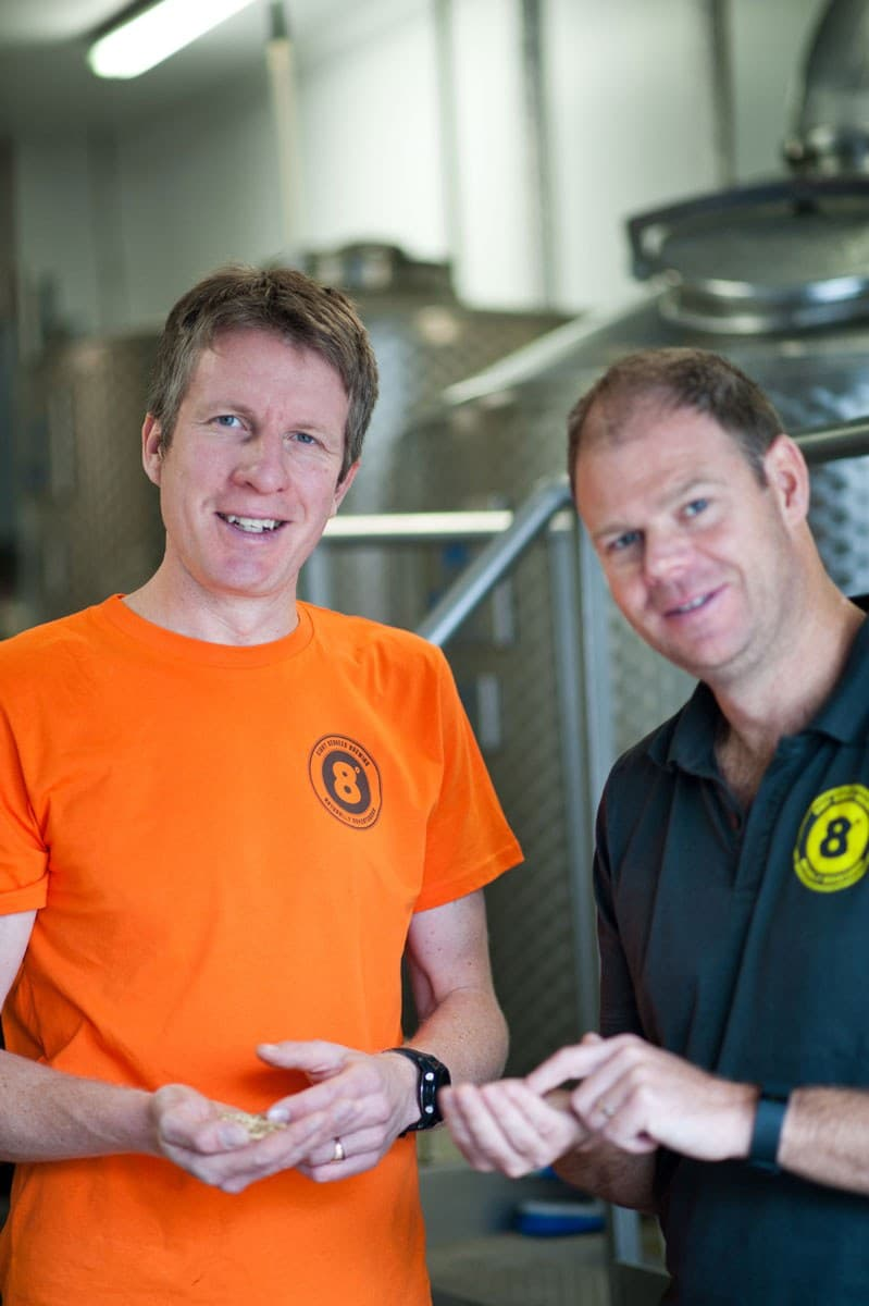 Eight Degrees Brewing Founder Brewers Scott Baigent and Cam Wallace 1