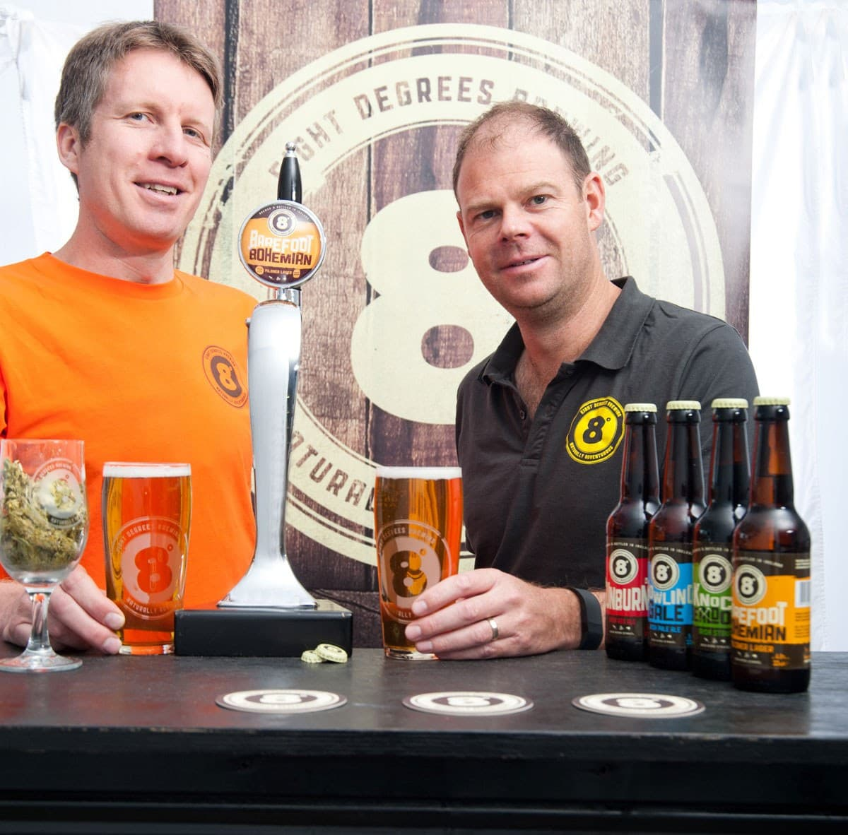 Eight Degrees Brewing Founder Brewers Scott Baigent and Cam Wallace 2