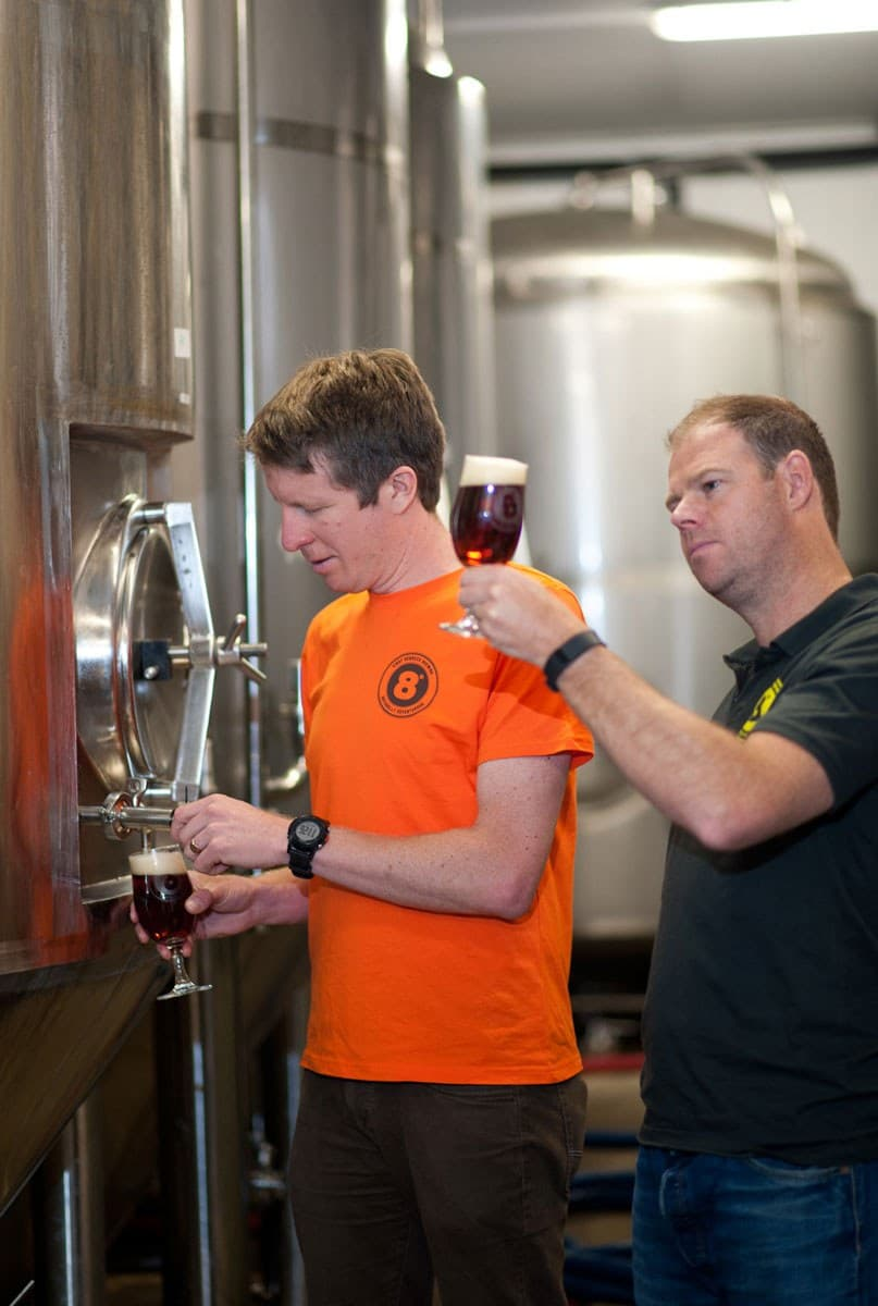 Eight Degrees Brewing Founder Brewers Scott Baigent and Cam Wallace 5