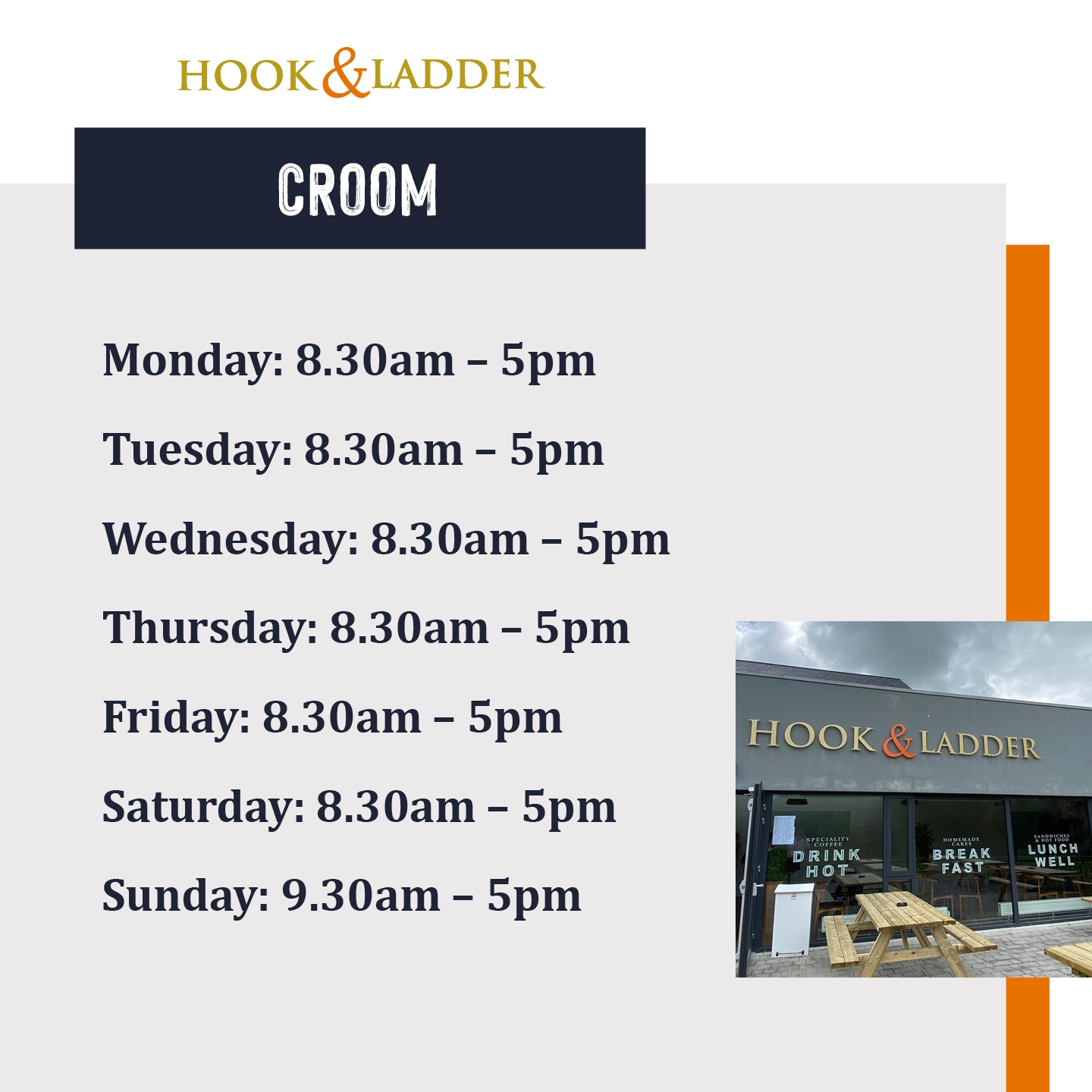 Hook and Ladder Croom Opening Times