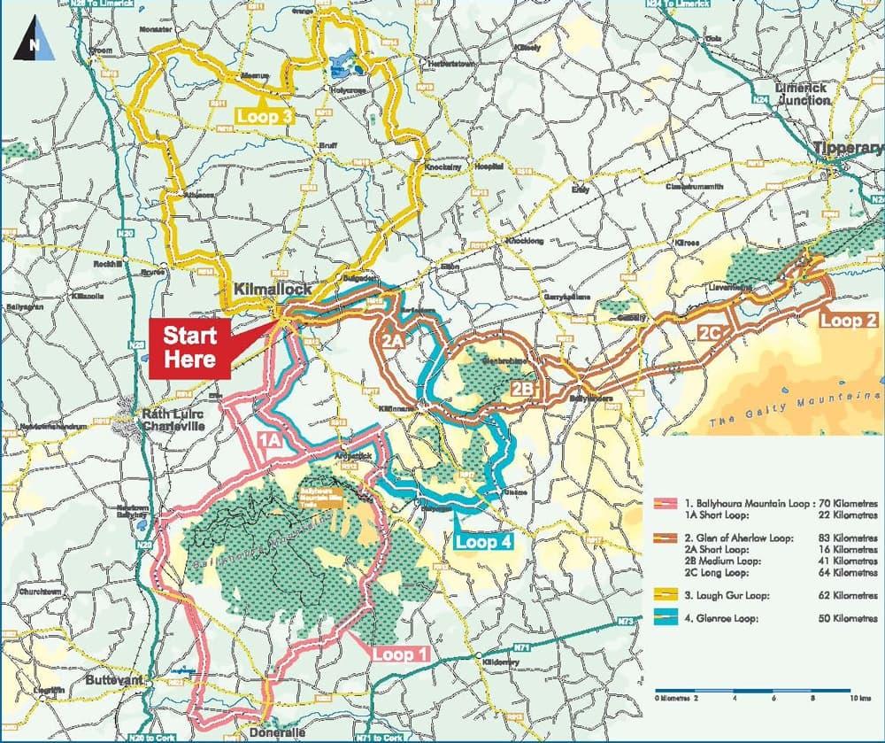 Kilmallock Cycling Hub Map Detail