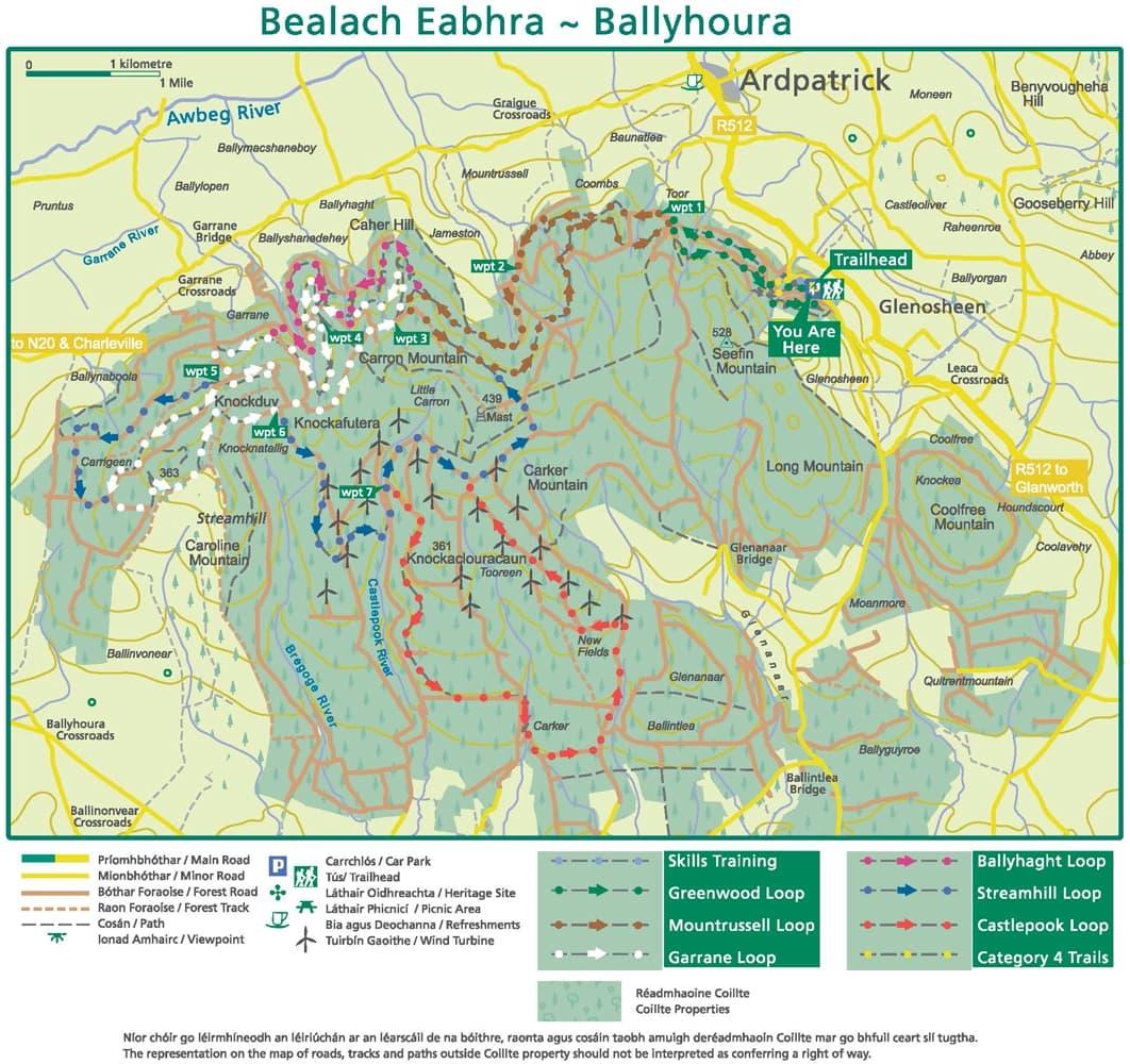 LK Ballyhoura MTB Map2018