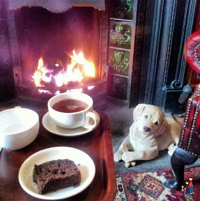 Old Bank BB tea by the fire
