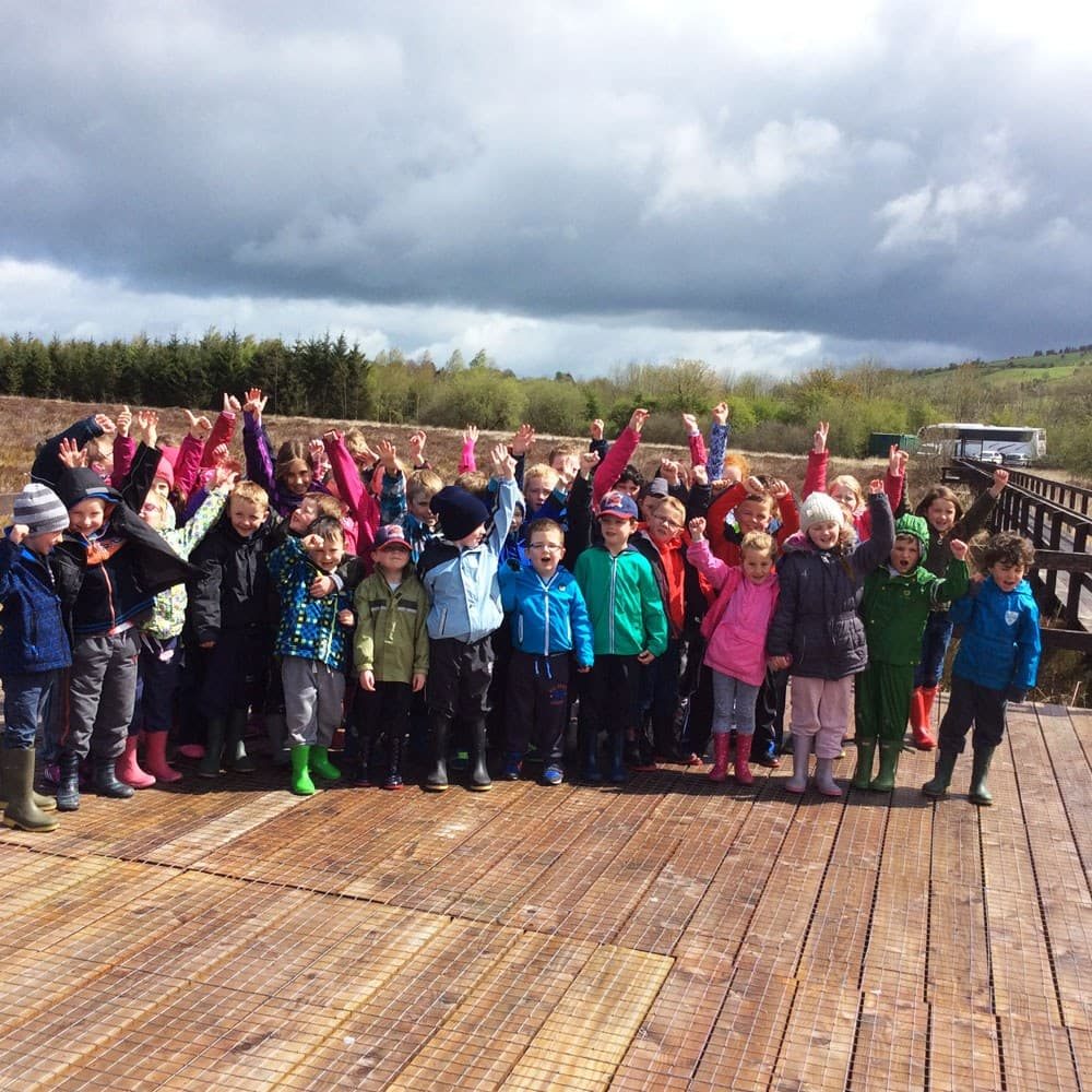 Outdoor Classroom Griston bog group children