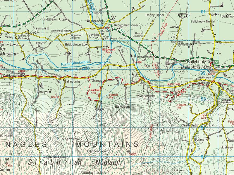 The Black Ditch or Cliadh Dubh in north Cork